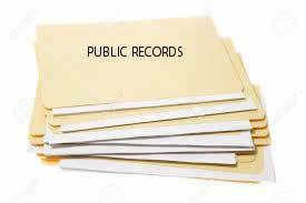 Photo of Public Records Folders